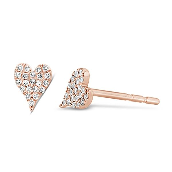 Shy Creation 14k Rose Gold Earrings 1/10 ct. tw.