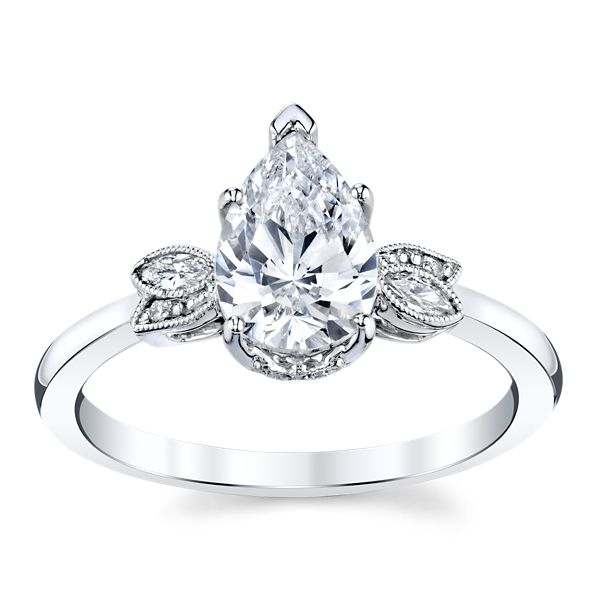 Kirk Kara 14k White Gold Diamond Engagement Ring Setting .08 ct. tw.