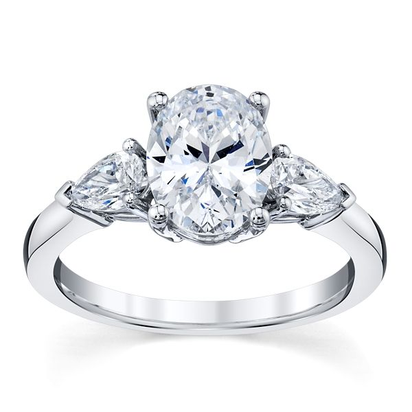 RB Classic 14k White Gold Diamond Engagement Ring Setting 1/2 ct. tw.