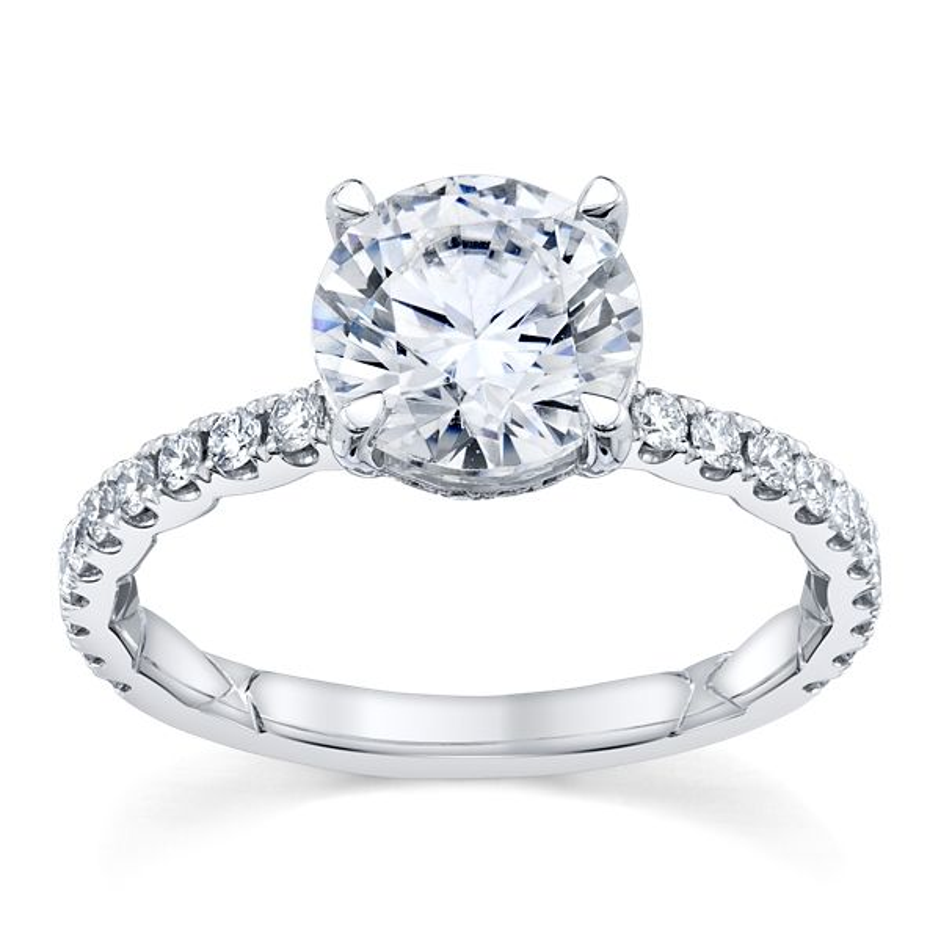 A. Jaffe 14k White Gold Diamond Engagement Ring Setting 3/8 ct. tw.