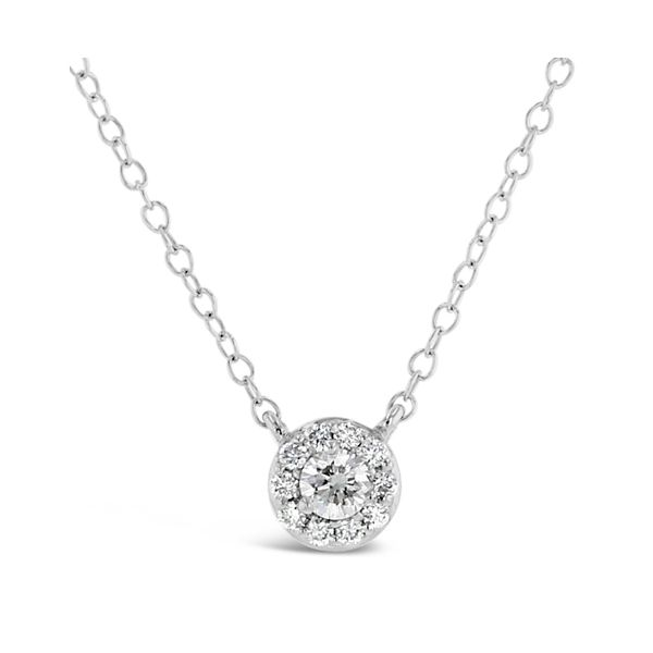 Eternalle Lab-Grown 14k White Gold Necklace 1/4 ct. tw.