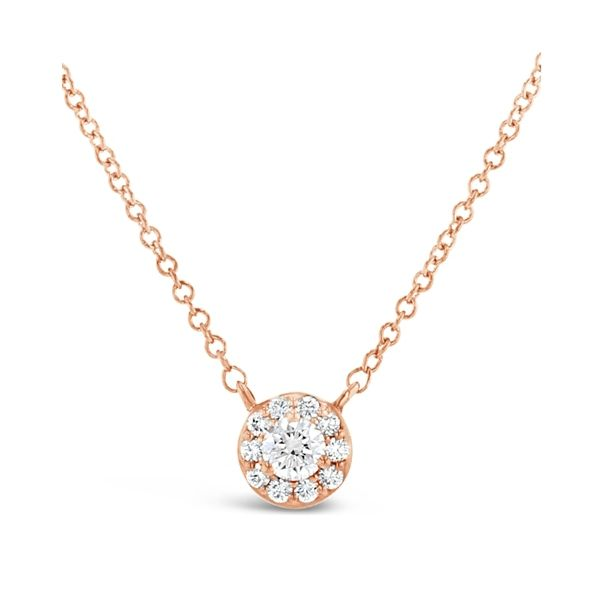 Eternalle Lab-Grown 14k Rose Gold Necklace 1/4 ct. tw.