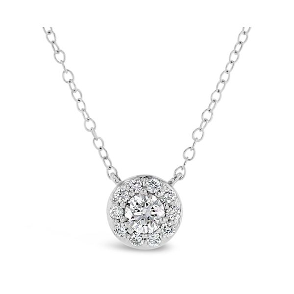 Eternalle Lab-Grown 14k White Gold Necklace 1/2 ct. tw.