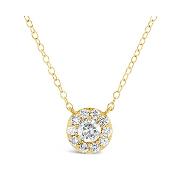 Eternalle Lab-Grown 14k Yellow Gold Necklace 1/2 ct. tw.