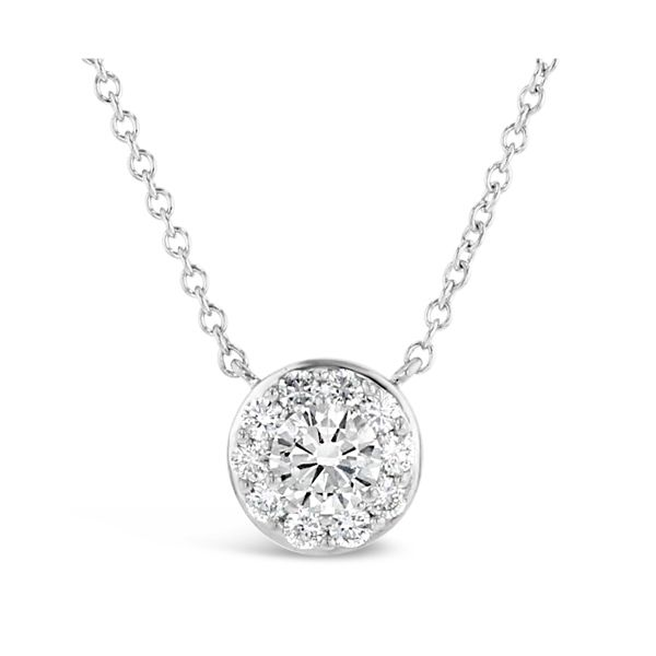 Eternalle Lab-Grown 14k White Gold Necklace 1 ct. tw.
