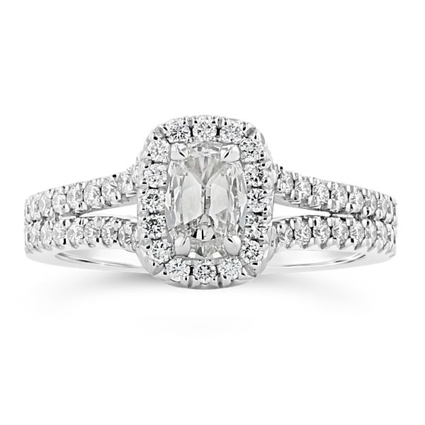 Henri Daussi 18k White Gold Diamond Engagement Ring 1 ct. tw.