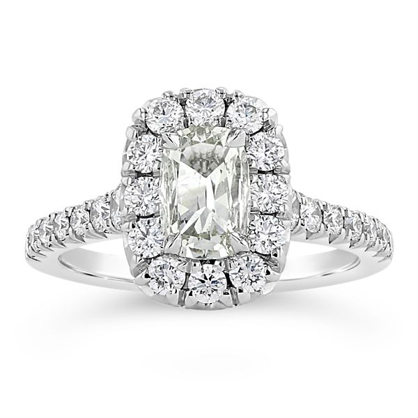 Henri Daussi 18k White Gold Diamond Engagement Ring 1 1/3 ct. tw.