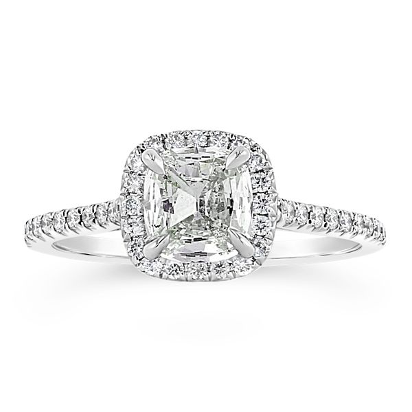 Henri Daussi 18k White Gold Diamond Engagement Ring 1 1/4 ct. tw.