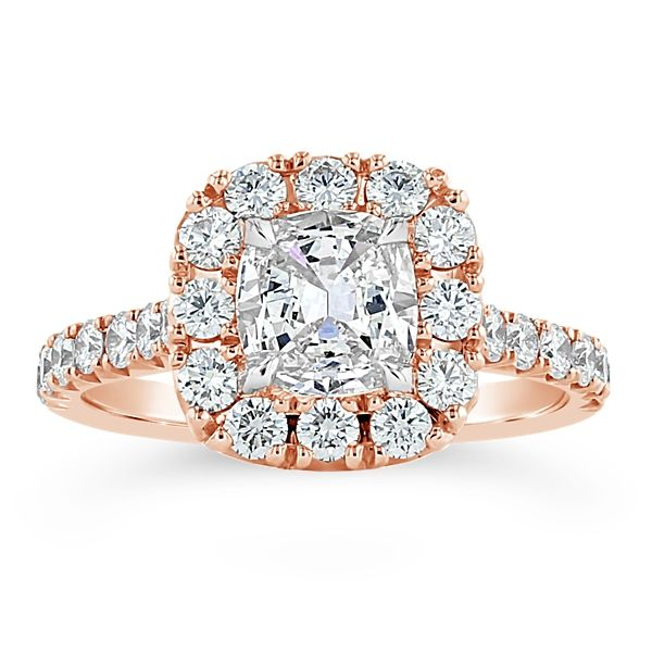Henri Daussi 14k Rose Gold Diamond Engagement Ring 1 3/4 ct. tw.