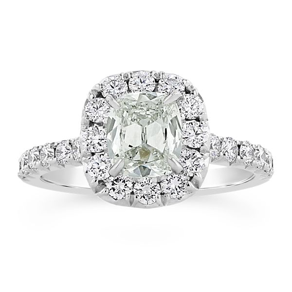 Henri Daussi 14k White Gold Diamond Engagement Ring 1 3/4 ct. tw.