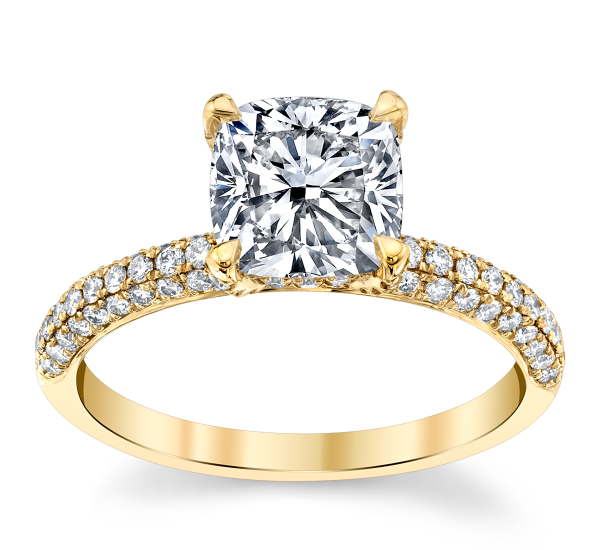RB Signature 14k Yellow Gold Diamond Engagement Ring Setting 1/2 ct. tw.
