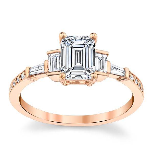 RB Signature 14k Rose Gold Diamond Engagement Ring Setting 1/4 ct. tw.