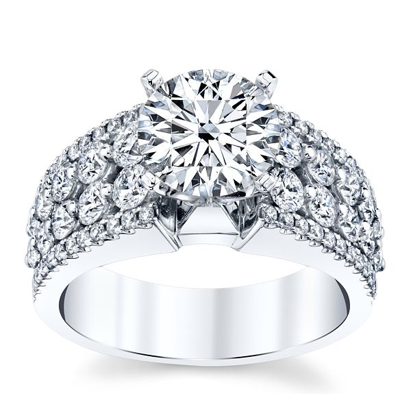 Divine 18k White Gold Diamond Engagement Ring Setting 1 1/3 ct. tw.