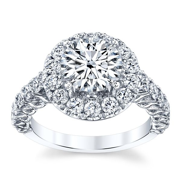 Divine 18k White Gold Diamond Engagement Ring Setting 1 1/3 ct. tw.