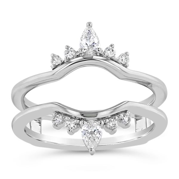 14k White Gold Solitaire Guard 1/4 ct. tw.