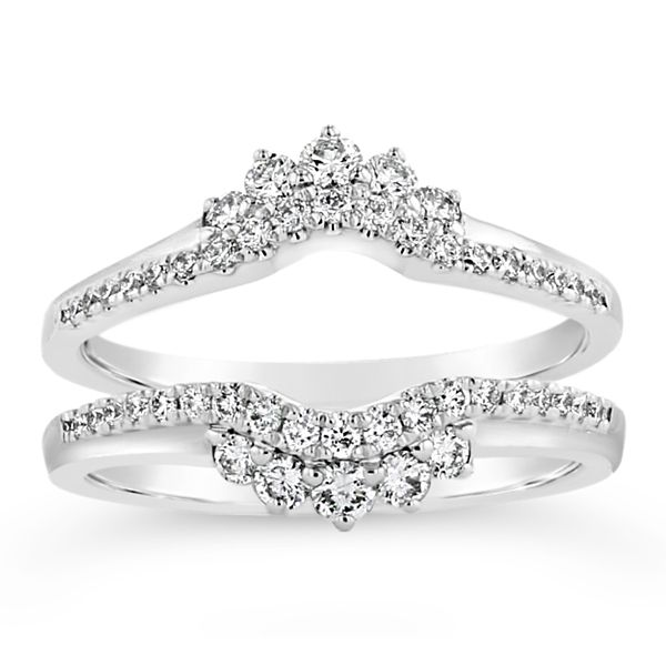 14k White Gold Solitaire Guard 1/2 ct. tw.