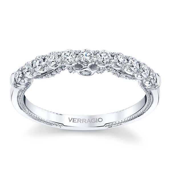 Verragio 18k White Gold Diamond Wedding Band 3/8 ct. tw.