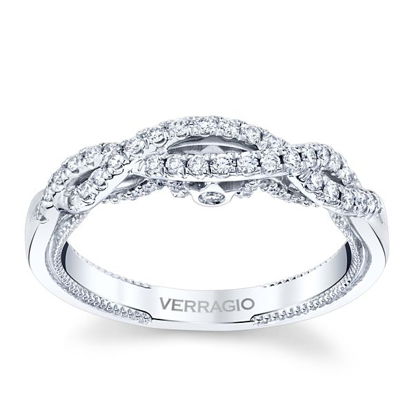 Verragio 18k White Gold Diamond Wedding Band 1/3 ct. tw.