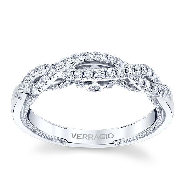 Verragio 18k White Gold Diamond Wedding Band 1/3 ct. tw.