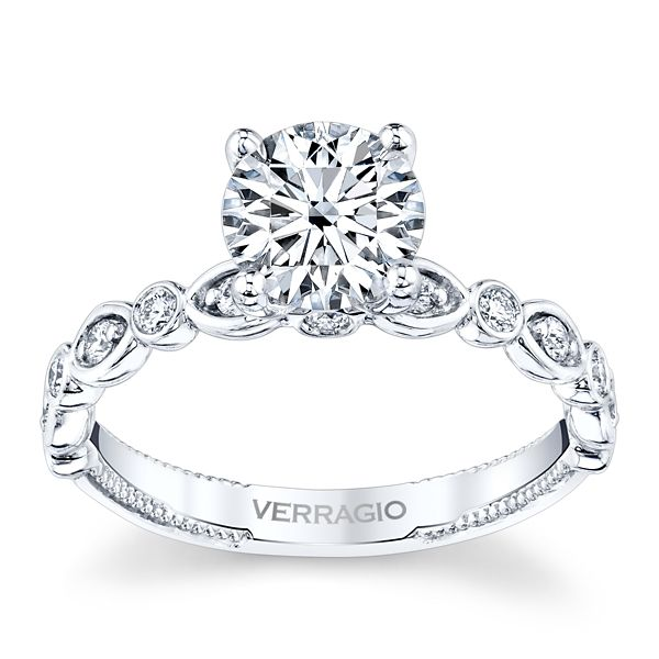Verragio 14k White Gold Diamond Engagement Ring Setting 1/5 ct. tw.