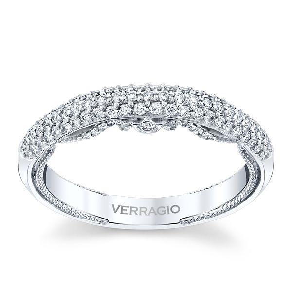 Verragio 18k White Gold Diamond Wedding Band 3/8 ct. tw.