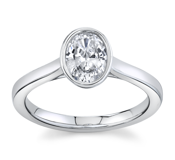 RB Signature 14k White Gold Engagement Ring Setting ct. tw.