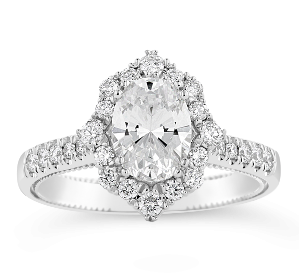 Verragio 14k White Gold Diamond Engagement Ring Setting 3/8 ct. tw.
