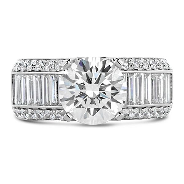 Divine 14k White Gold Diamond Engagement Ring Setting 1 3/4 ct. tw.