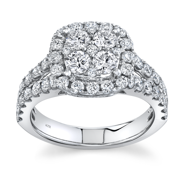 Eternalle Lab-Grown 14k White Gold Diamond Engagement Ring 2 ct. tw.