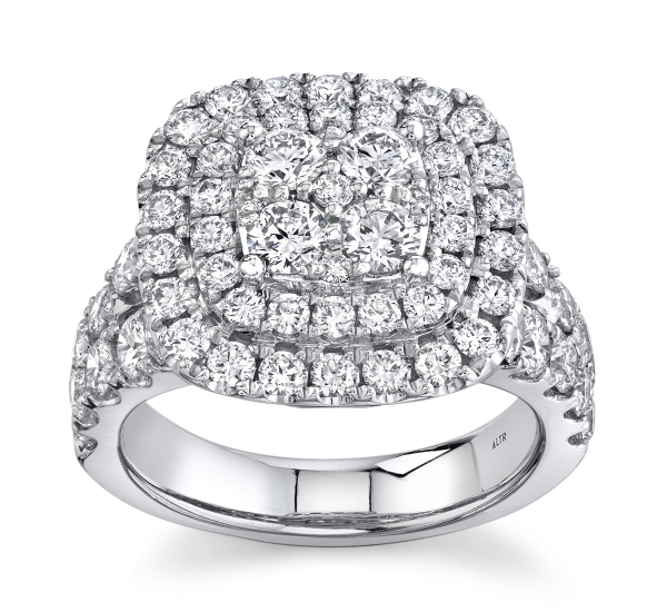 Eternalle Lab-Grown 14k White Gold Diamond Engagement Ring 3 ct. tw.
