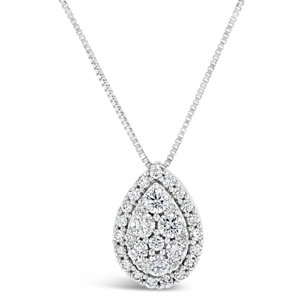 14k White Gold Necklace 3/8 ct. tw.