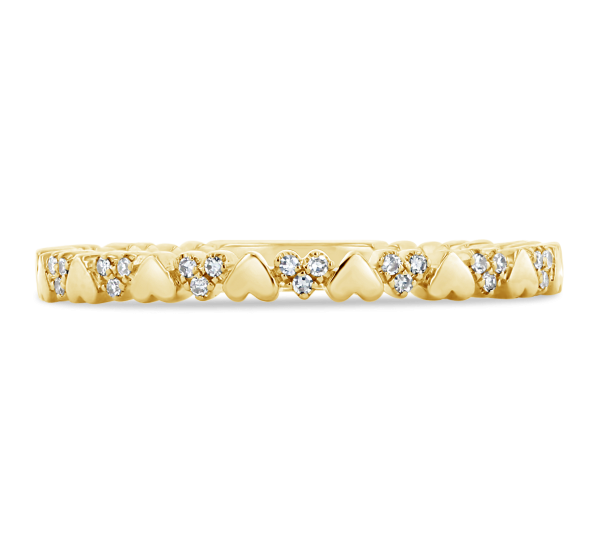Shy Creation 14k Yellow Gold Diamond Wedding Ring .04 ct. tw.