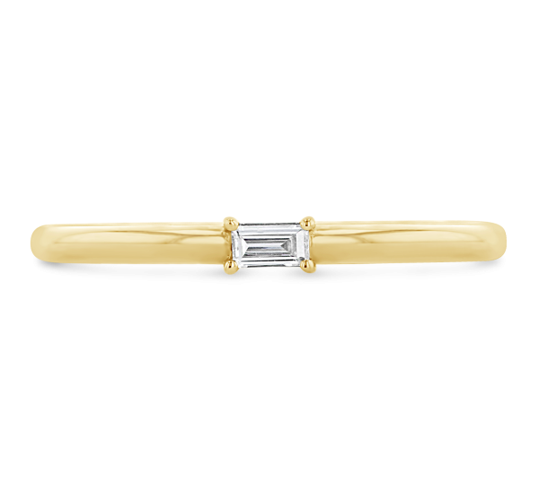Shy Creation 14k Yellow Gold Diamond Wedding Ring .05 ct. tw.