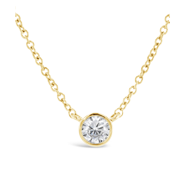 Eternalle Lab-Grown 14k Yellow Gold Pendant 1/2 ct. tw.