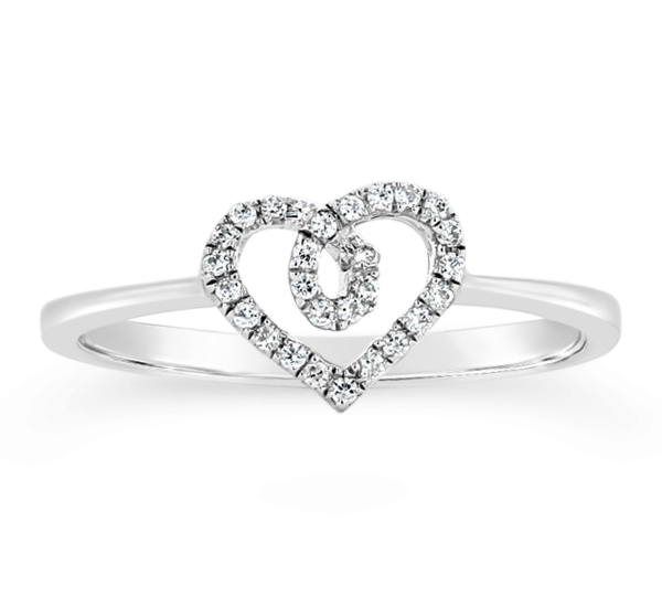 Cherish 14k White Gold Promise Ring .09 ct. tw.
