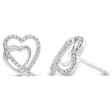 14k White Gold Earrings 1/6 ct. tw.