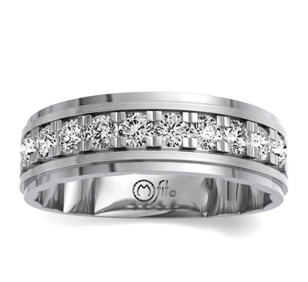 MFit 14k White Gold Diamond Wedding Band 2 ct. tw.