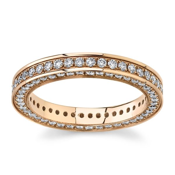 Gravure 14k Rose Gold Diamond Wedding Band 1 ct. tw.