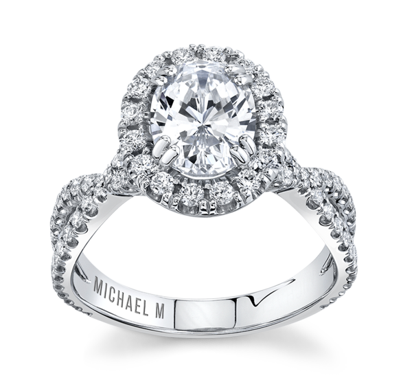 Michael M. 18k White Gold Diamond Engagement Ring Setting 5/8 ct. tw.