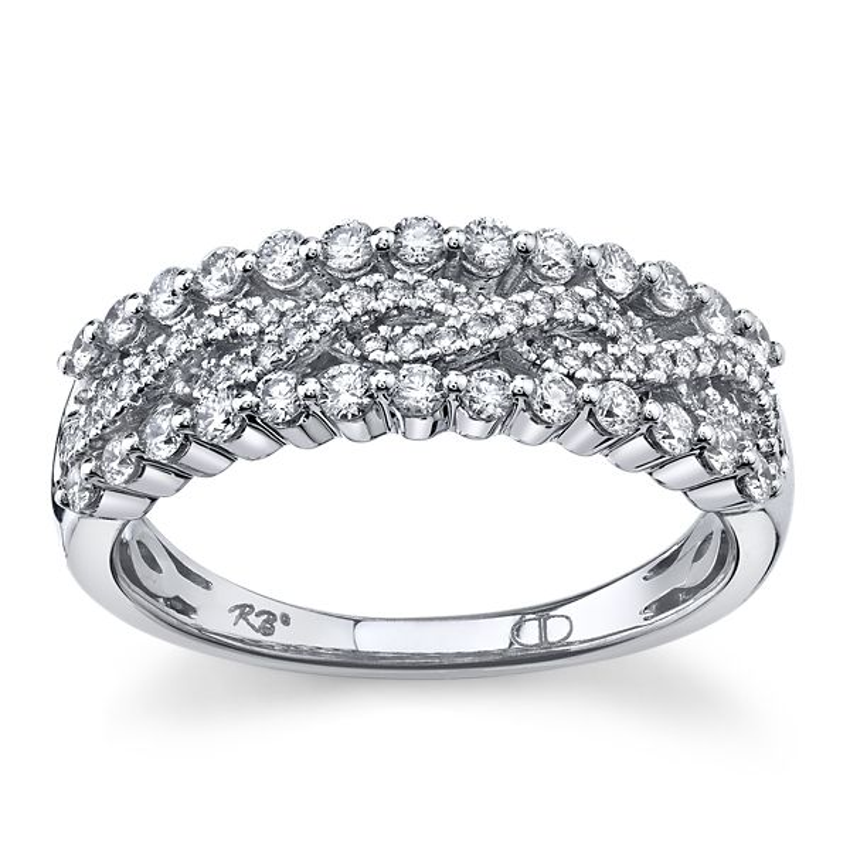 14k White Gold Diamond Wedding Ring 1/2 ct. tw.
