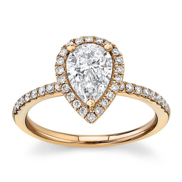 Poem 14k Rose Gold Diamond Engagement Ring 1 1/4 ct. tw.