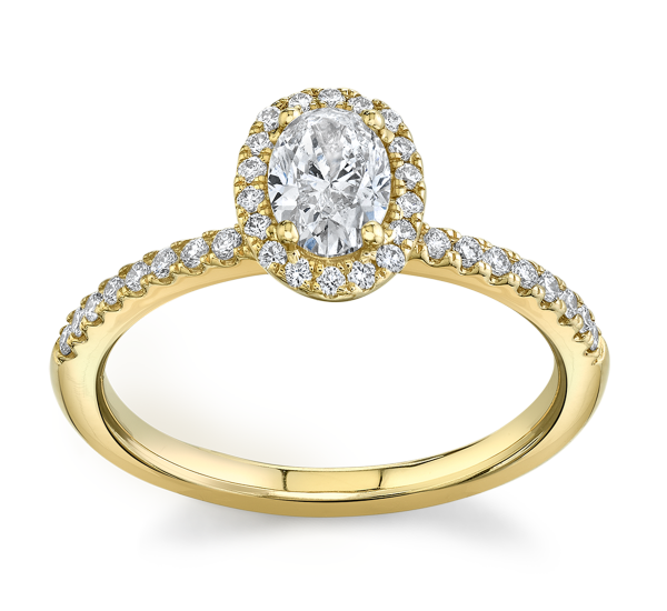 Poem 14k Yellow Gold Diamond Engagement Ring 3/4 ct. tw.