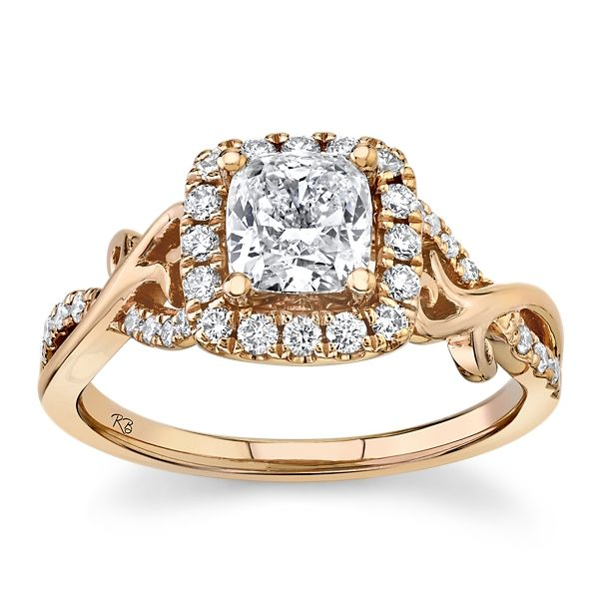 Poem 14k Rose Gold Diamond Engagement Ring 1 ct. tw.