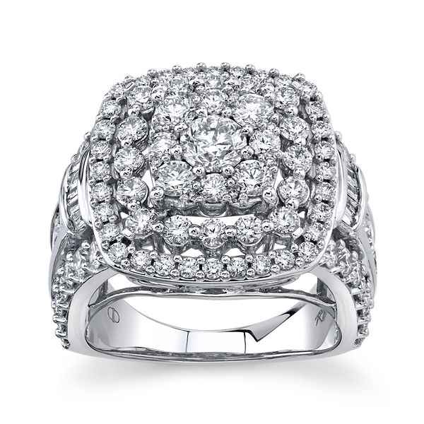 Mosaic Collection 14k White Gold Diamond Engagement Ring 4 ct. tw.