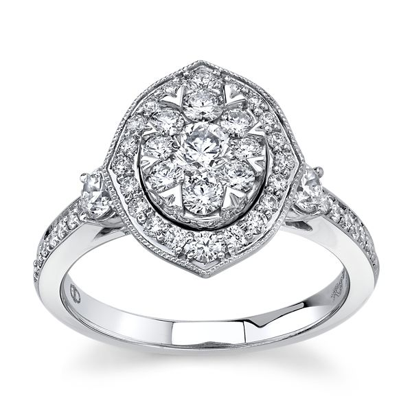 Mosaic Collection 14k White Gold Diamond Engagement Ring 1 1/4 ct. tw.