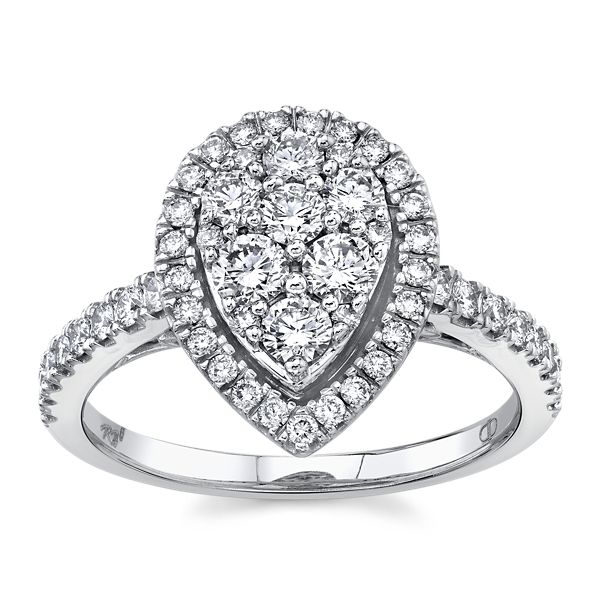 Mosaic Collection 14k White Gold Diamond Engagement Ring 1 ct. tw.
