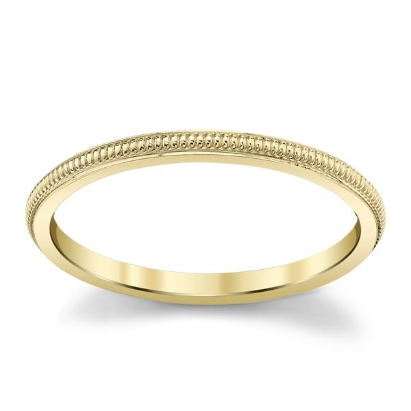 14k Yellow Gold 1.5 mm Wedding Band