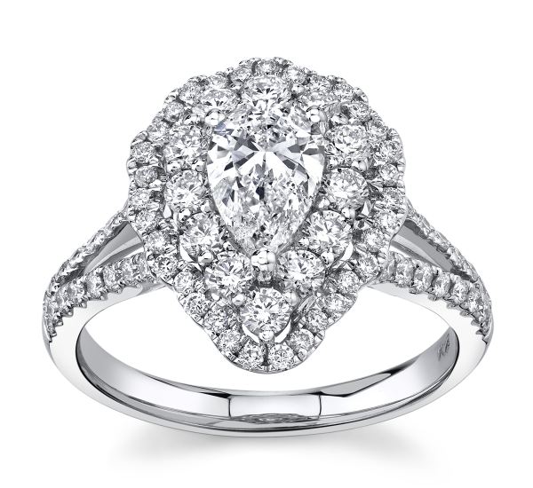 Poem 14k White Gold Diamond Engagement Ring 1 1/2 ct. tw.