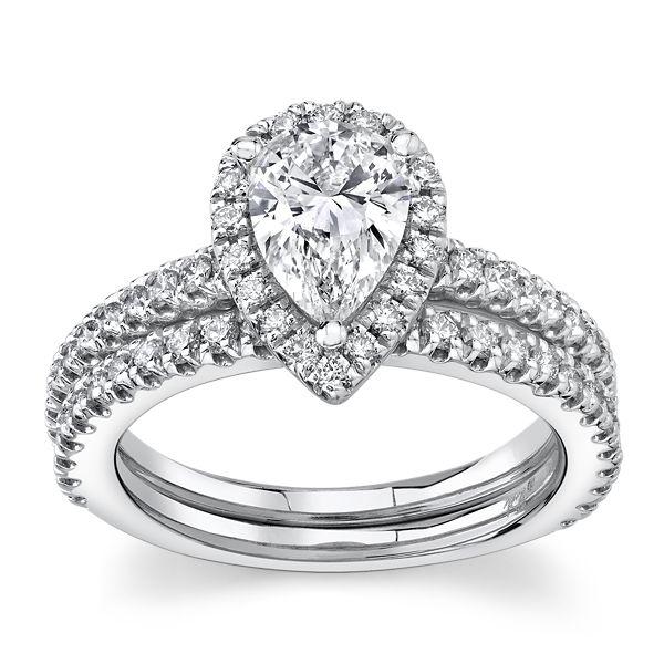 Eternalle Lab-Grown 14k White Gold Diamond Wedding Set 1 3/4 ct. tw.