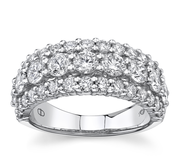 Eternalle Lab-Grown 14k White Gold Diamond Wedding Band 2 1/4 ct. tw.